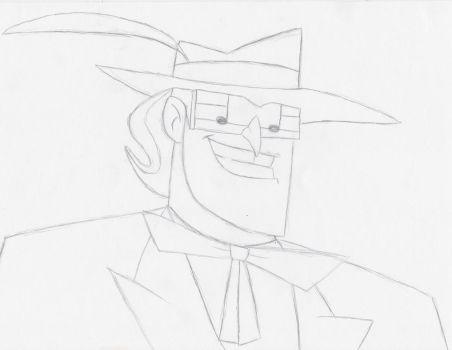 Music Meister (Pencil Outline) by FantasySciFiRealm