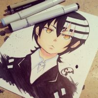 Death the Kid (SoulEater Fanart) by NauticaWilliams