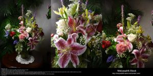 Stargazer Lily Arrangement Stock 1 by Melyssah6-Stock