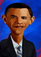 President Obama Portrait by Garrenh