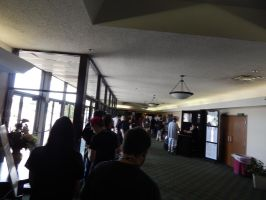 In line for the Dealer Room at BotCon 2015 1.5 by transformersnewfan