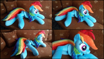 Lifesize Rainbow Dash plush by RosaMariposaCrafts
