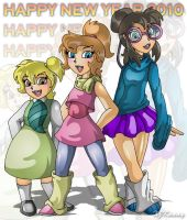 Chipettes New Year by XJKenny