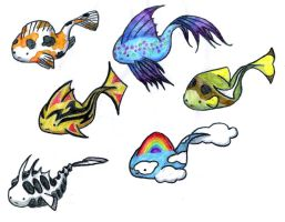 Fishy Adoptables: Set 2 by bb7519