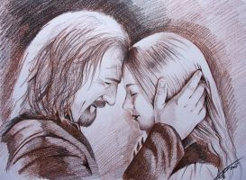 Theoden and Eowyn by phantomphreaq