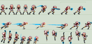 Sakura Ultimate Jutsu Sprites NZC Style by BlowUpElisha