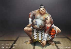 Mikio - Sumo Oni Hunter by dinmoney