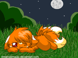 Kinka lying down c: by LilMangoMagic