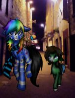 Wandering The Streets by midnightstarfire