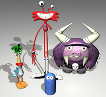 3D Imaginary Friends by JackInTheDark