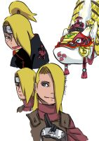 Deidara stuff by 15stepsdown