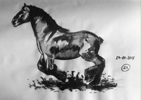 #24 Drawing a horse a day 2015 by Nienke15