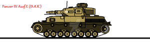 Panzer IV Ausf.E (D.A.K.) by thesketchydude13