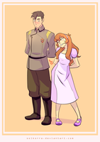 Flashback Shiro and Pidge by SolKorra