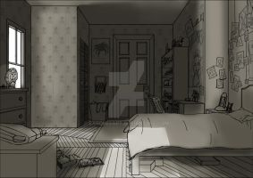 ParaNorman Bedrooom Concept/Study by BasquesArt