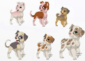 canine adopts 2 by HappyDucklings