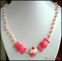 Kawaii Candy Necklace by SugarsinJewellery