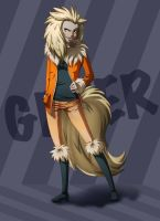 Greer - Arcanine Gijinka Full by Paper-Rabbit