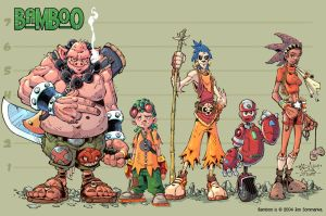 Bamboo :: Character line up by Red-J
