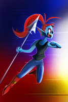 Undyne: Anime is Real by SynDuo