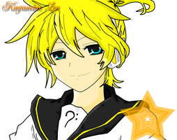 -Colored- Kagamine Len by BlackGreenLover