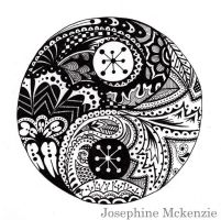 Ying/Yang Zentangle by TownWithoutStreets