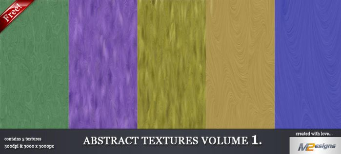 5 Free Abstract Textures V.1 by m2-Designs
