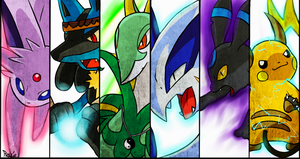My team -battle- by RocketHaruka