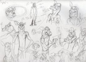 More Preed Scribbles by Phraggle