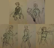 Project Aether Character Designs by RAFstoryart