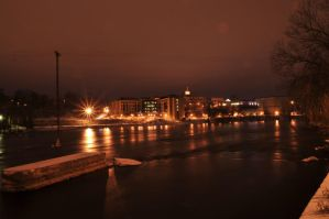 fox river at night by CrazypersonA4