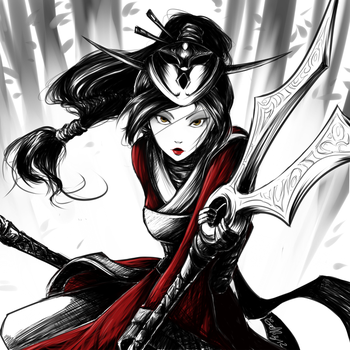 Blood Moon Akali by GaelRice