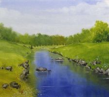 Along the Riverbank by ronnietucker