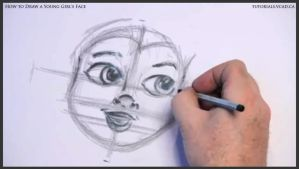 Learn How to Draw Young Girl's Face 012 by drawingcourse
