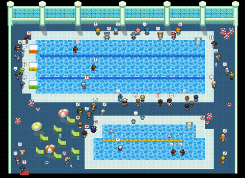 Indoor Map - The swimming contest by KaitoTemari1