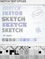 Sketch Text Styles by PhotoshopStyles