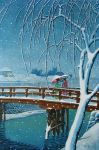 Copy after Hasui, Evening Snow by hank1