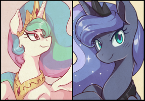 T.C: Luna and Celestia by Sallymon