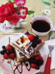 Homemade Belgium Waffles by theresahelmer