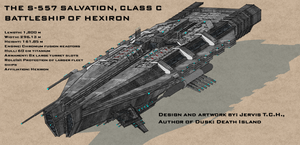 S-557 Salvation Battleship of Hexiron by Universe-of-Dusk