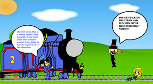 tieing up someone to the railroad on Sodor (human  by burntuakrisp