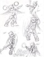 Kid Icarus Uprising : Weapons by Paws-the-snowleopard