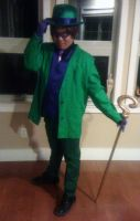My Riddler Cosplay by theEmperorofShadows