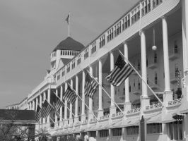 The Grand Hotel III BW by Qphacs