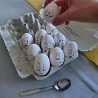 Playing around with eggs =D by AtomiccircuS