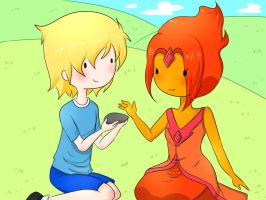 Finn and Flame Princess by SakuraYagami