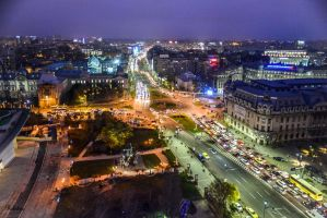 night over Bucharest by Rikitza