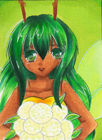 Aceo # 9 - Blumengruss by chocobeery