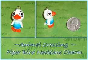 Animal Crossing - Piper Bird Necklace Charm by YellerCrakka
