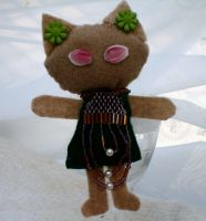 Punk Kitty with Beaded Dress by Althaeasoap